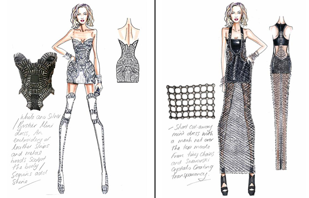 Beyonce's Versace sketches
